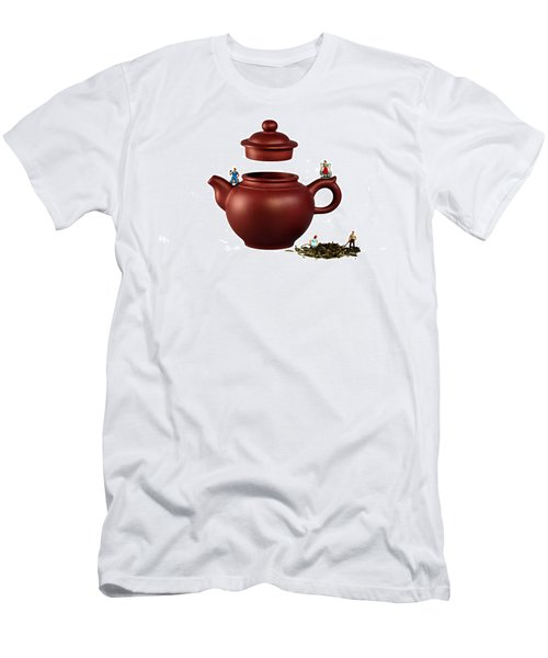 Making Green Tea On A Clay Teapot Men's T-Shirt (Athletic Fit)