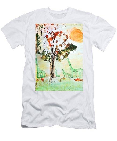 Matei's Dinosaurs Men's T-Shirt (Athletic Fit)