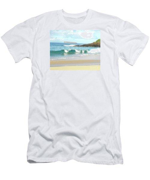 Maui Hawaii Beach Men's T-Shirt (Slim Fit) by Rebecca Margraf