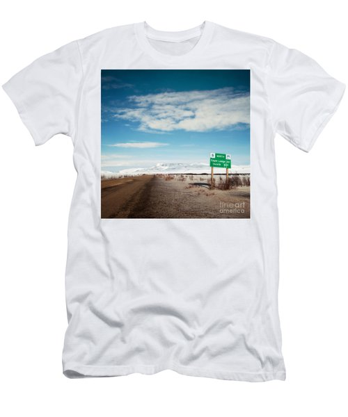 Milepost At The Dempster Highway Men's T-Shirt (Athletic Fit)