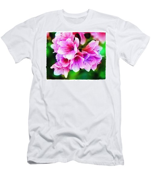 Men's T-Shirt (Slim Fit) featuring the photograph Miniature Azaleas by Judi Bagwell
