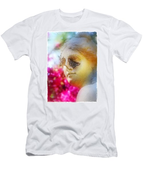 Men's T-Shirt (Slim Fit) featuring the photograph Moth On Statue by Judi Bagwell