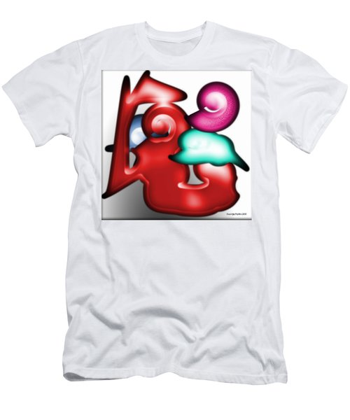 Men's T-Shirt (Slim Fit) featuring the digital art Mother And Child In The Daylight by George Pedro