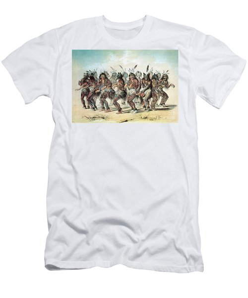 Native American Indian Bear Dance Men's T-Shirt (Athletic Fit)