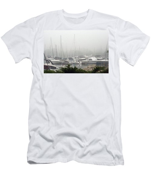 Men's T-Shirt (Slim Fit) featuring the photograph No Sailing Today by Kay Novy