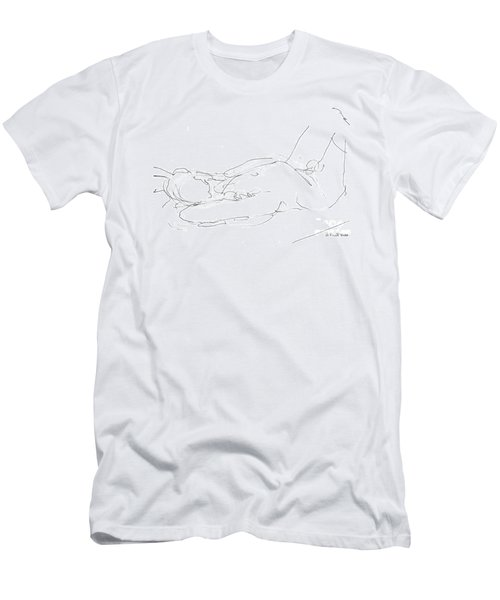 Nude-male-drawings-12 Men's T-Shirt (Athletic Fit)