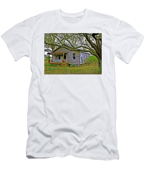 Men's T-Shirt (Slim Fit) featuring the photograph Old Gray House by Judi Bagwell