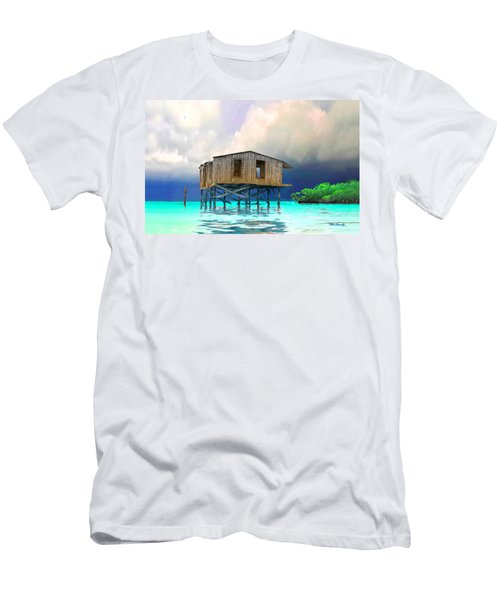Old House Near The Storm Filtered Men's T-Shirt (Athletic Fit)
