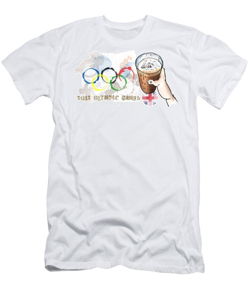 Olympic Rings Men's T-Shirt (Athletic Fit)