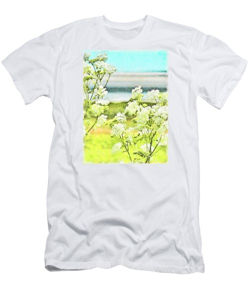 Men's T-Shirt (Slim Fit) featuring the digital art On The Mudflats Of Pegwell Bay by Steve Taylor