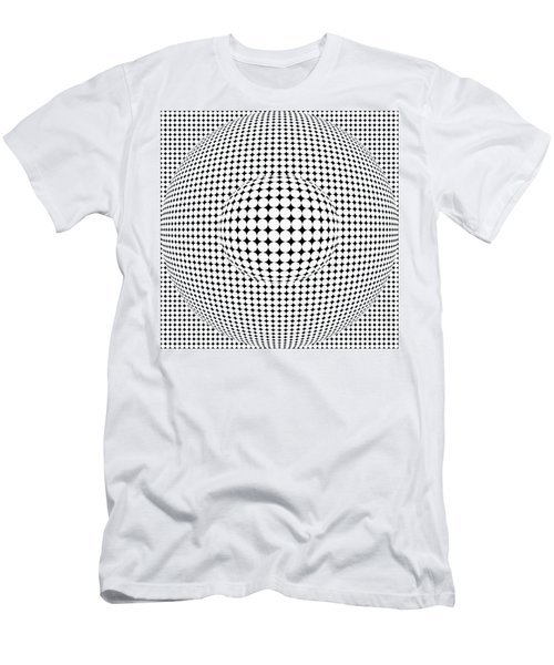Optical Illusion Ball In Ball Men's T-Shirt (Athletic Fit)