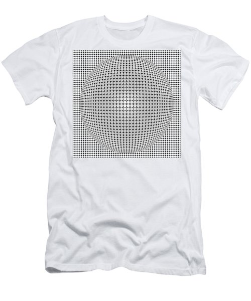 Optical Illusion Plastic Ball Men's T-Shirt (Athletic Fit)