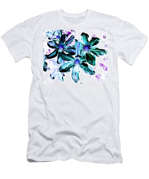 Men's T-Shirt (Slim Fit) featuring the photograph Organic Techno Flowers by Lisa Brandel