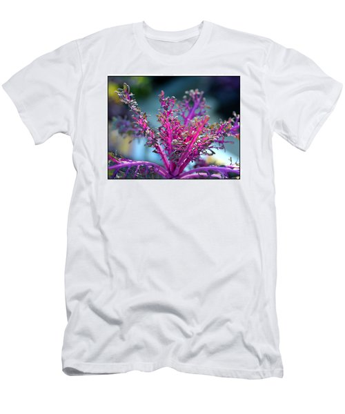 Men's T-Shirt (Slim Fit) featuring the photograph Ornamental Cabbage by Judi Bagwell