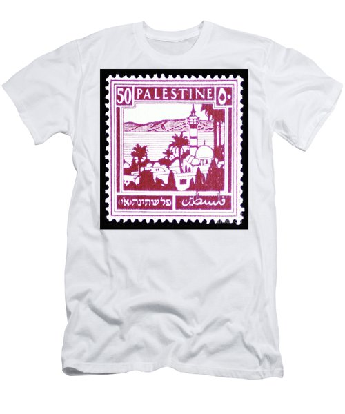 Palestine Vintage Postage Stamp Men's T-Shirt (Athletic Fit)