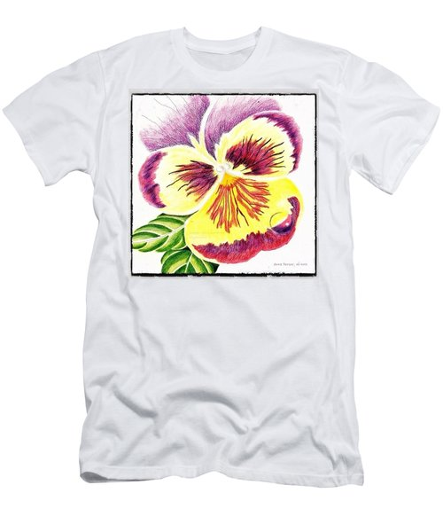 Pansy With Raindrop, 06-2012 By Anna Men's T-Shirt (Athletic Fit)