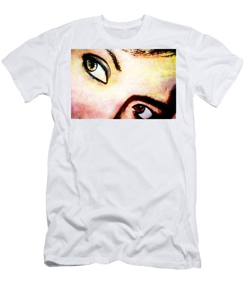 Men's T-Shirt (Slim Fit) featuring the photograph Passionate Eyes by Ester  Rogers