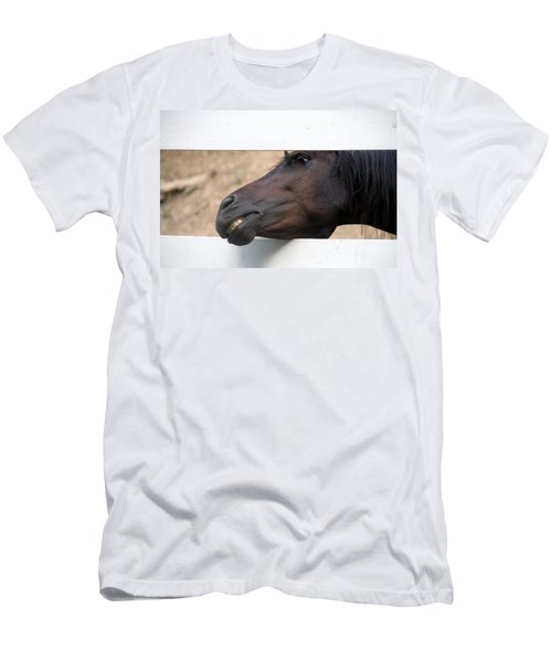 Men's T-Shirt (Slim Fit) featuring the photograph Peek A Boo by Elizabeth Winter