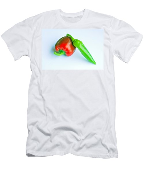 Men's T-Shirt (Slim Fit) featuring the photograph Peppers by Lisa Phillips