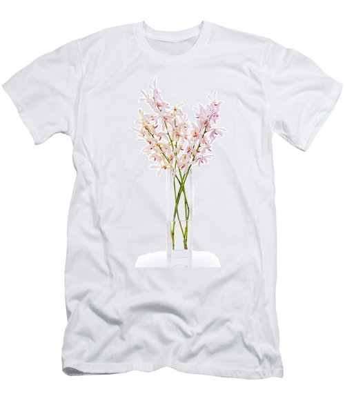 Pink Orchid In Vase Men's T-Shirt (Slim Fit) by Atiketta Sangasaeng