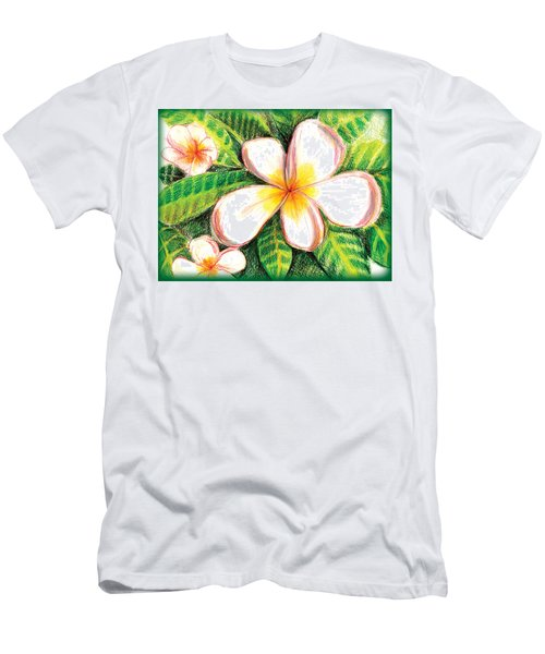 Plumeria With Foliage Men's T-Shirt (Athletic Fit)