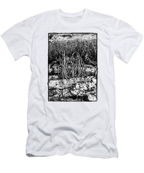 Men's T-Shirt (Slim Fit) featuring the photograph Poison Ivy Roots by Judi Bagwell