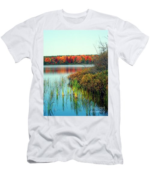 Pond In The Woods In Autumn Men's T-Shirt (Athletic Fit)