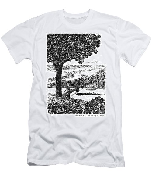 Portsmouth Ohio From A Kentucky Hill Men's T-Shirt (Slim Fit) by Frank Hunter