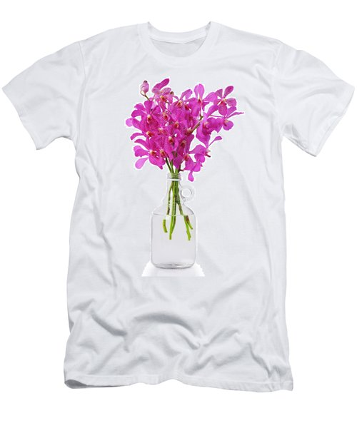 Purple Orchid In Bottle Men's T-Shirt (Slim Fit) by Atiketta Sangasaeng