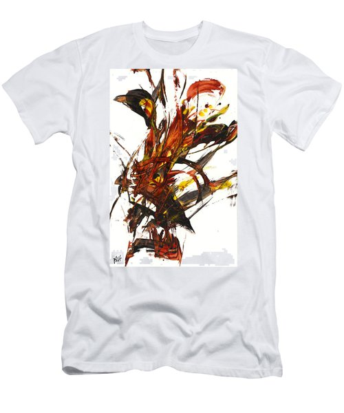 Red Flame II 65.121410 Men's T-Shirt (Slim Fit) by Kris Haas