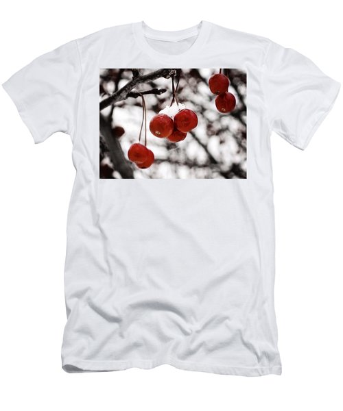 Red Winter Berries Men's T-Shirt (Athletic Fit)