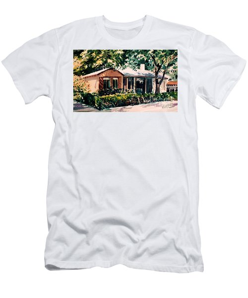 Men's T-Shirt (Slim Fit) featuring the painting Redwood City #4 by Donald Maier