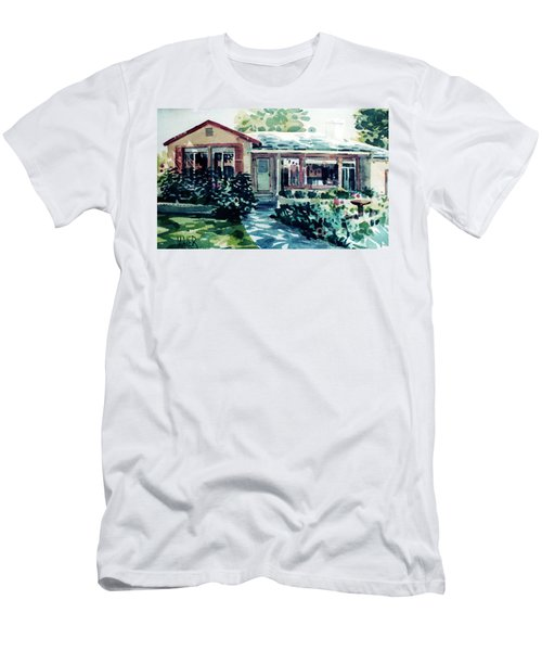 Men's T-Shirt (Slim Fit) featuring the painting Redwood City House #2 by Donald Maier