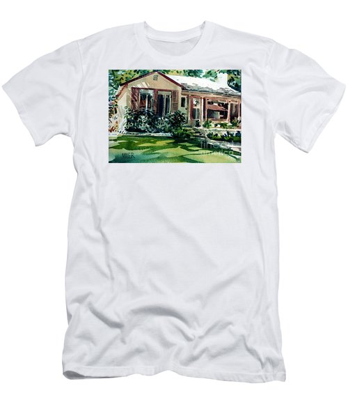 Men's T-Shirt (Slim Fit) featuring the painting Redwood City House #3 by Donald Maier