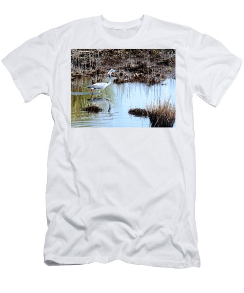 Reflections Of A Blue Heron Men's T-Shirt (Athletic Fit)
