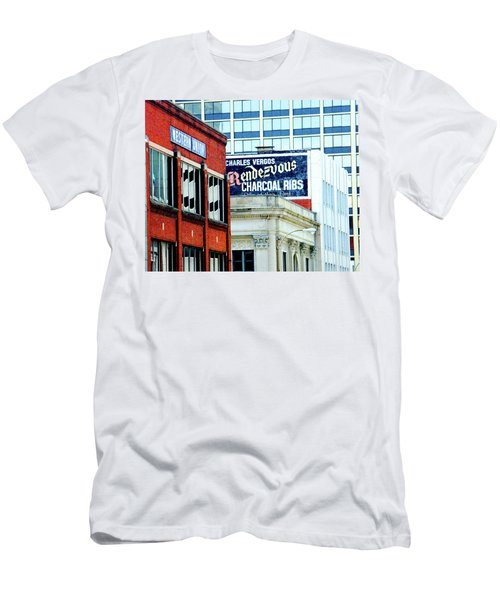 Men's T-Shirt (Slim Fit) featuring the photograph Rendezvous by Lizi Beard-Ward