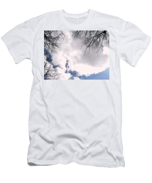 Men's T-Shirt (Slim Fit) featuring the photograph River In The Sky by Pamela Hyde Wilson