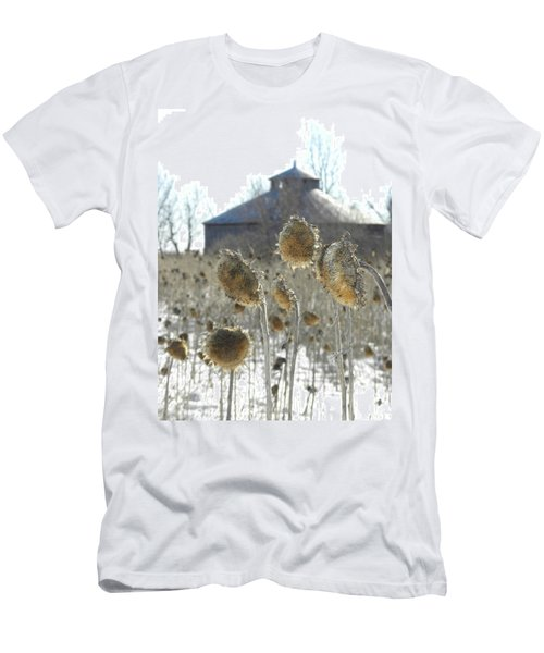 Round Barn With Sunflowers Men's T-Shirt (Athletic Fit)