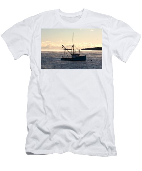 Sea-smoke On The Harbor Men's T-Shirt (Athletic Fit)