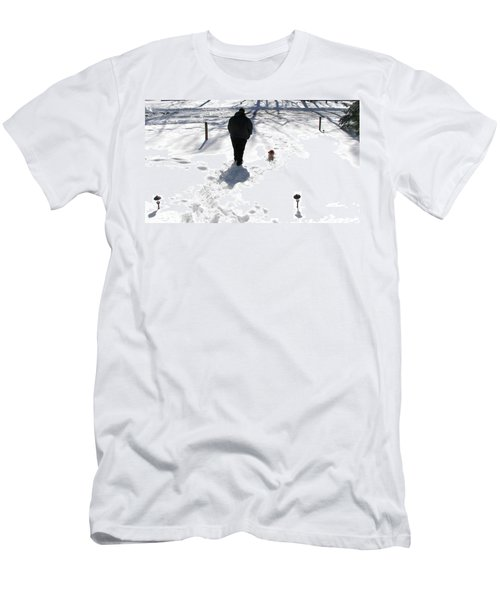 Men's T-Shirt (Slim Fit) featuring the photograph Snow Buddies by Pamela Hyde Wilson