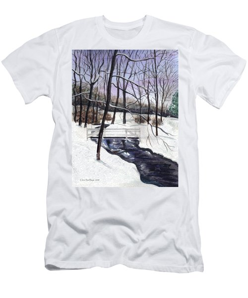 Snowy Shawnee Stream Men's T-Shirt (Athletic Fit)