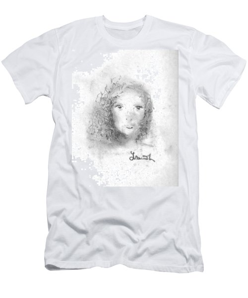 Men's T-Shirt (Athletic Fit) featuring the drawing Something About Mary by Laurie Lundquist
