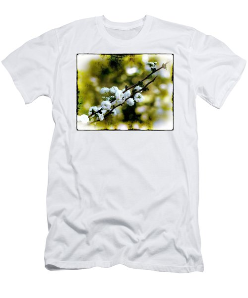 Men's T-Shirt (Slim Fit) featuring the photograph Spring Bough by Judi Bagwell