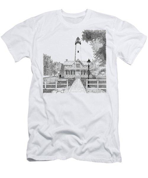 St. Simons Lighthouse Men's T-Shirt (Athletic Fit)