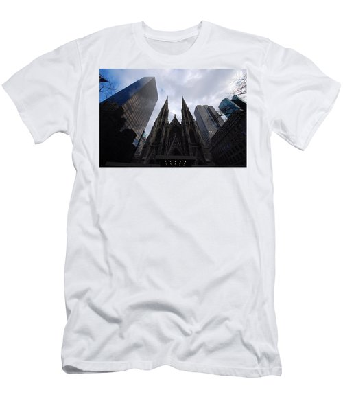 Men's T-Shirt (Slim Fit) featuring the photograph Steeples by John Schneider