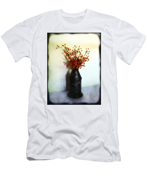 Men's T-Shirt (Slim Fit) featuring the photograph Still Life With Berries by Judi Bagwell