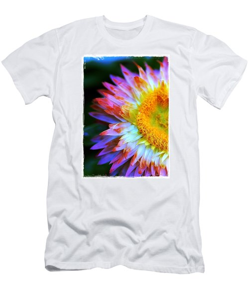 Men's T-Shirt (Slim Fit) featuring the photograph Strawflower by Judi Bagwell