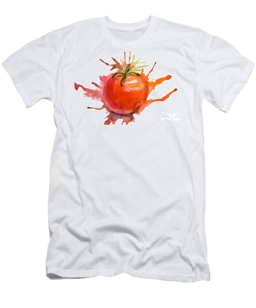 Stylized Illustration Of Tomato Men's T-Shirt (Athletic Fit)