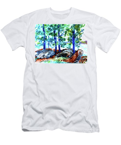 Summer By The Lake Men's T-Shirt (Athletic Fit)