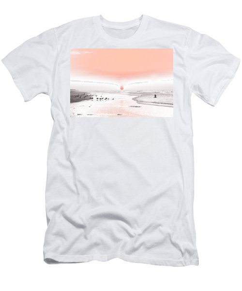 Pastel Sunrise Beach Men's T-Shirt (Athletic Fit)